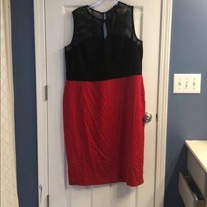 Gorgeous ELOQUII red and black midi dress!